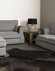 UrbanSofa Aberdeen Casia 3 zits en 2 zits sofa met hocker