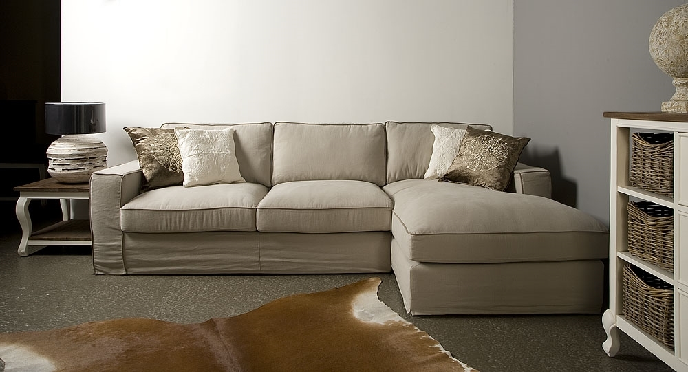 UrbanSofa SF Bellano Casia 2,5 zits met longchair losse hoes loungebank lifestyle bank   Geels